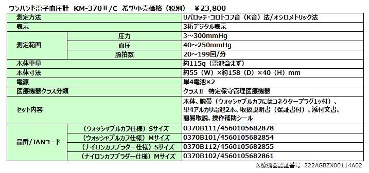 KM-370Ⅱ(C)仕様